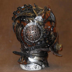 12 Masks of Halloween: #3 Steampunk leather helmet