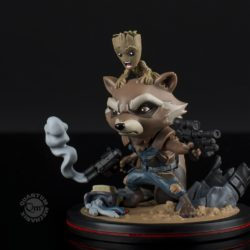 Groot and Rocket diorama