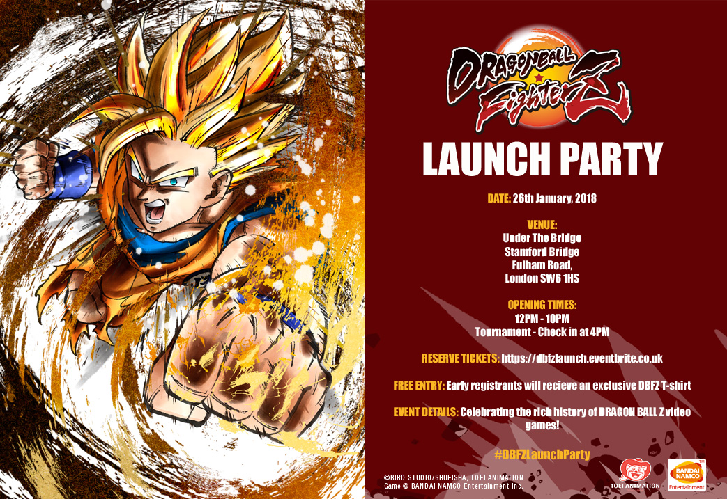 You Are Invited To The Dragon Ball FighterZ Launch Party
