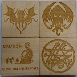 Do note poke the Deep Ones and other Cthulhu coasters