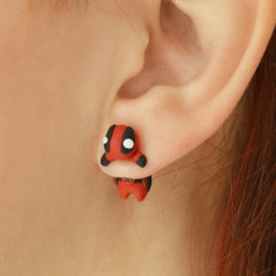 Original Deadpool earrings