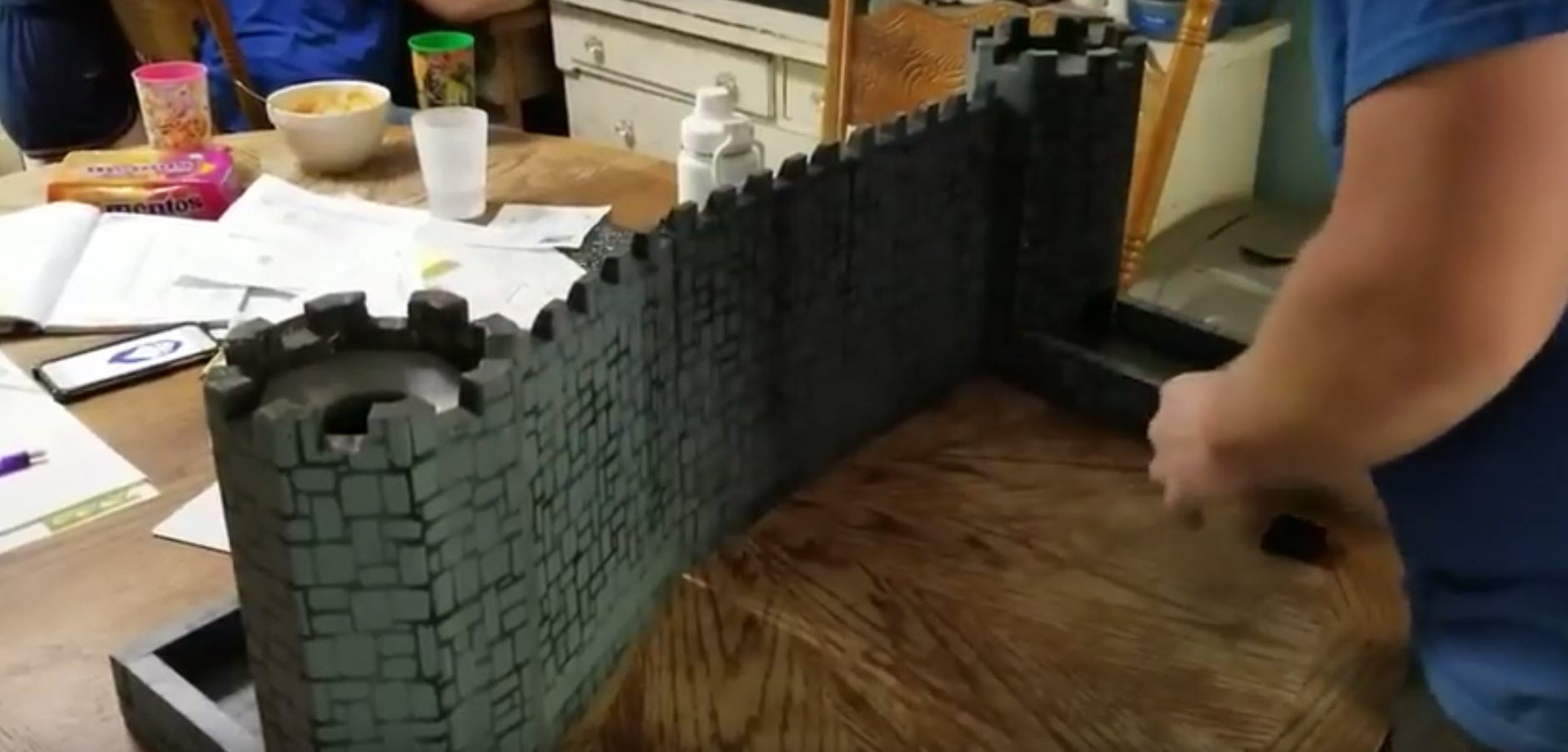 This castle turns into a dice rolling DM screen