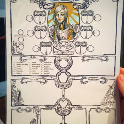Artful D&D and RPG custom character sheets from Jillian of Midgard