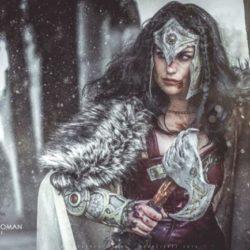 Megan Marie in a Wonder Woman mashup cosplay