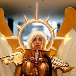 This incredible Warhammer 40K cosplay of Saint Celestine