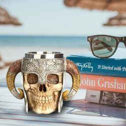 The evil GM Viking skull mug