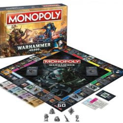 Space Marines and Chaos battle in the Warhammer 40,000 Monopoly