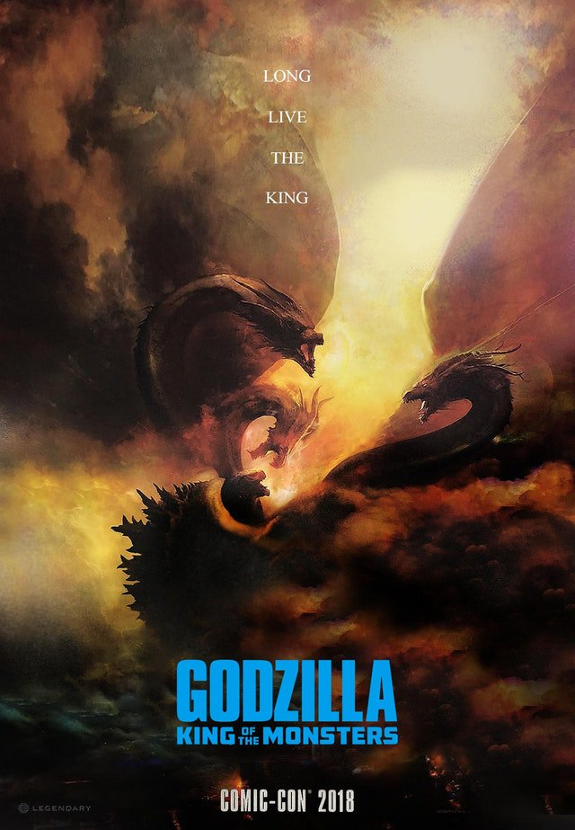 Godzilla: King of the Monsters Comic Con poster