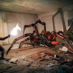 Anamorphic urban insect art to scare your players