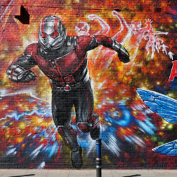 Stunning Ant-Man and the Wasp mural from Jim Vision