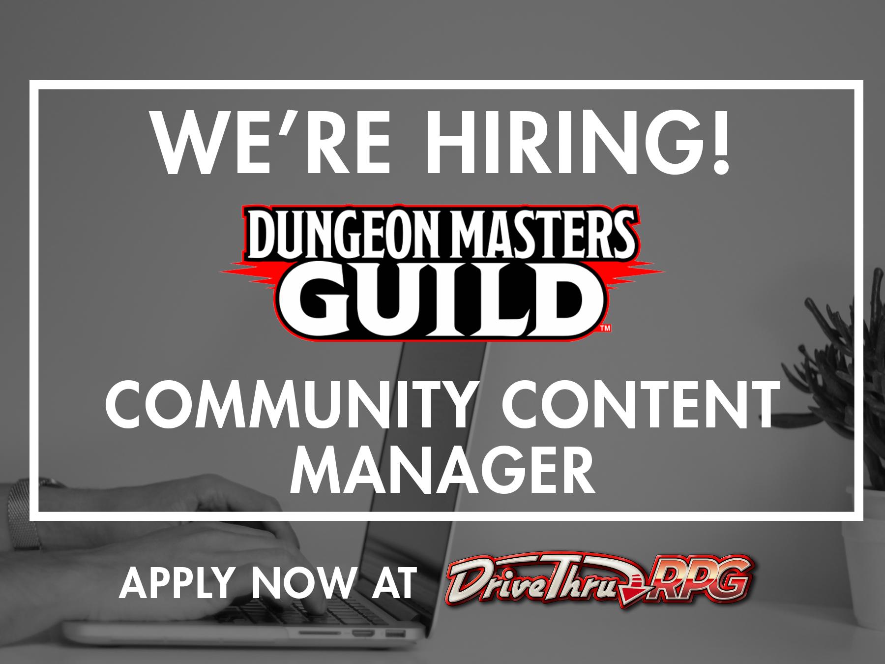 DMs Guild hiring