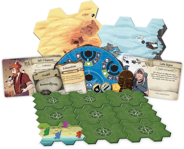 DIscover: Lands Unknown board