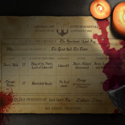 Robb and Talisa Stark's Marriage Certificate