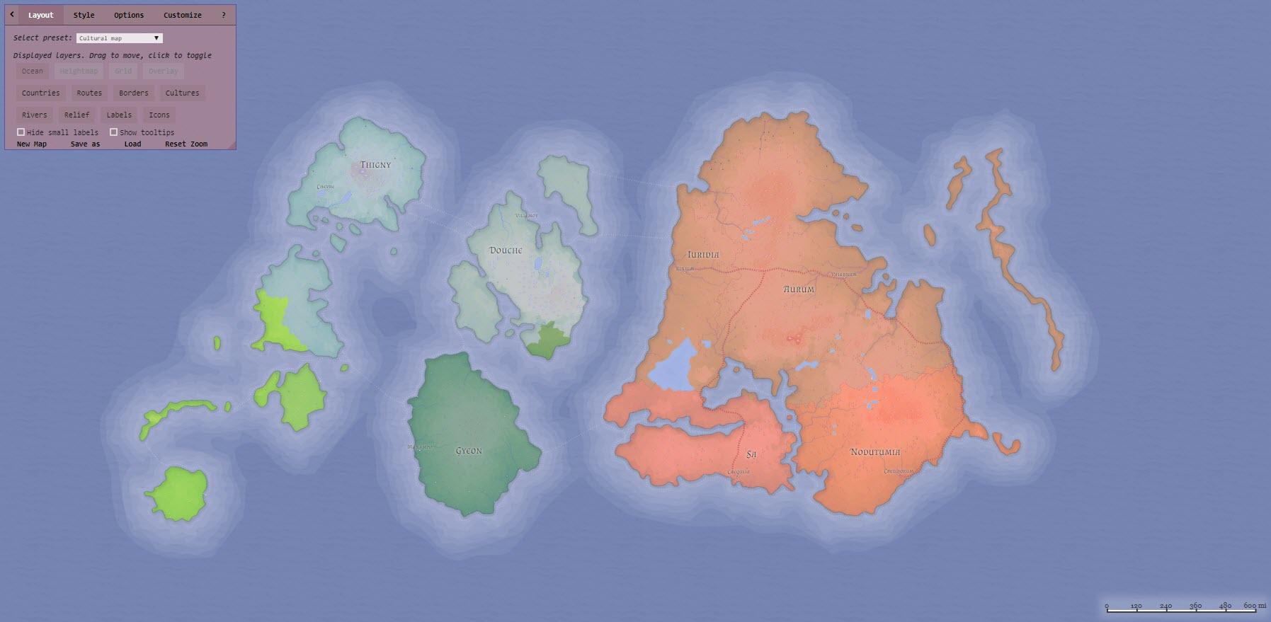 Map maker: Generating a fantasy world atlas