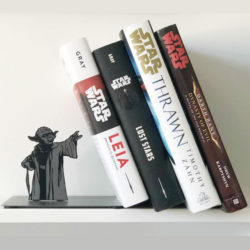 Yoda bookends force your books to the light side of the shelf