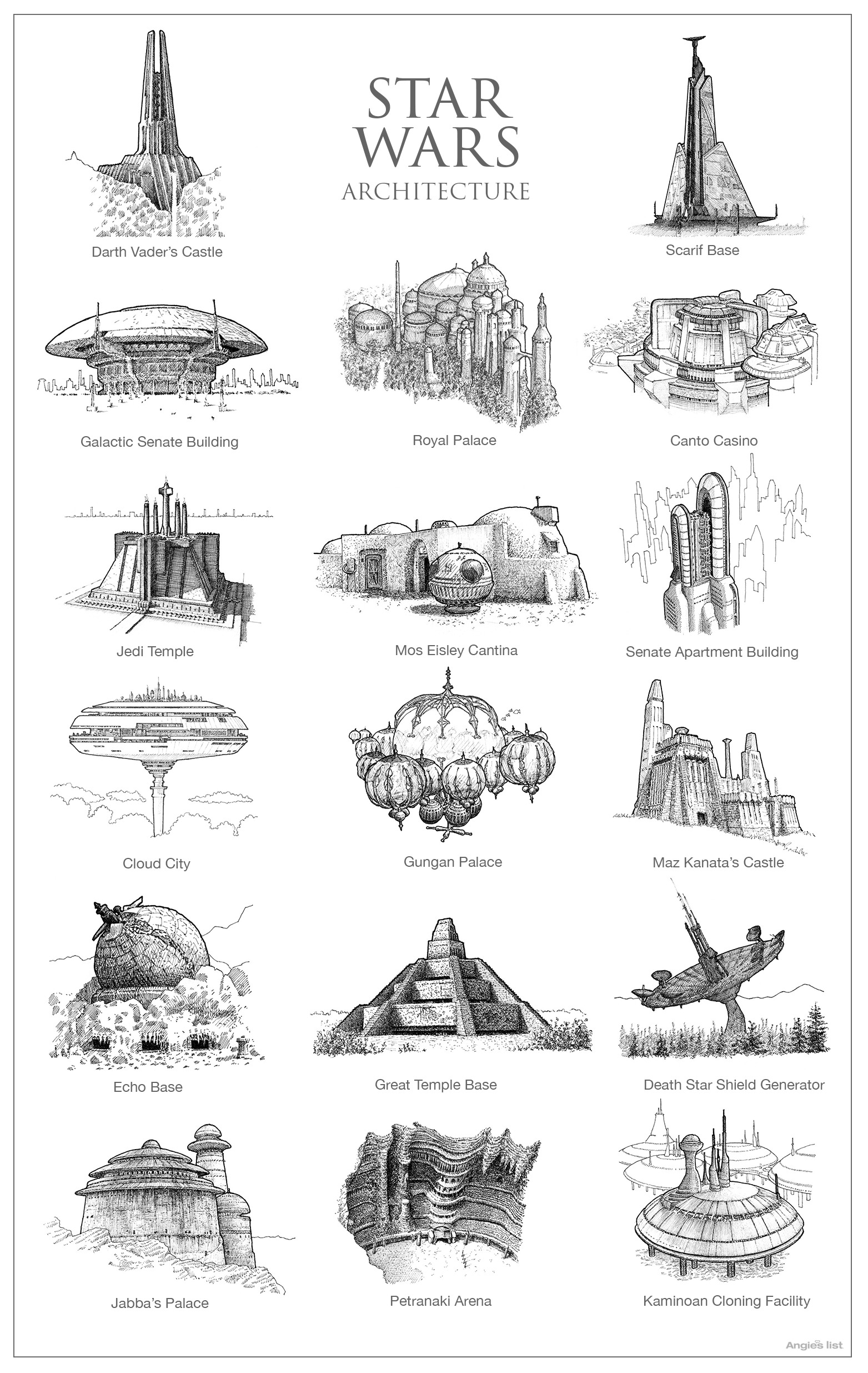 Hand-drawn architecture for Skyrim