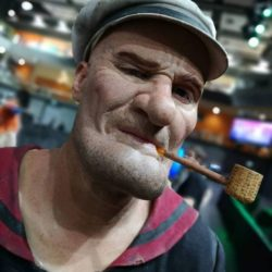 Realistic Popeye cosplay from Eye of Sauron designs