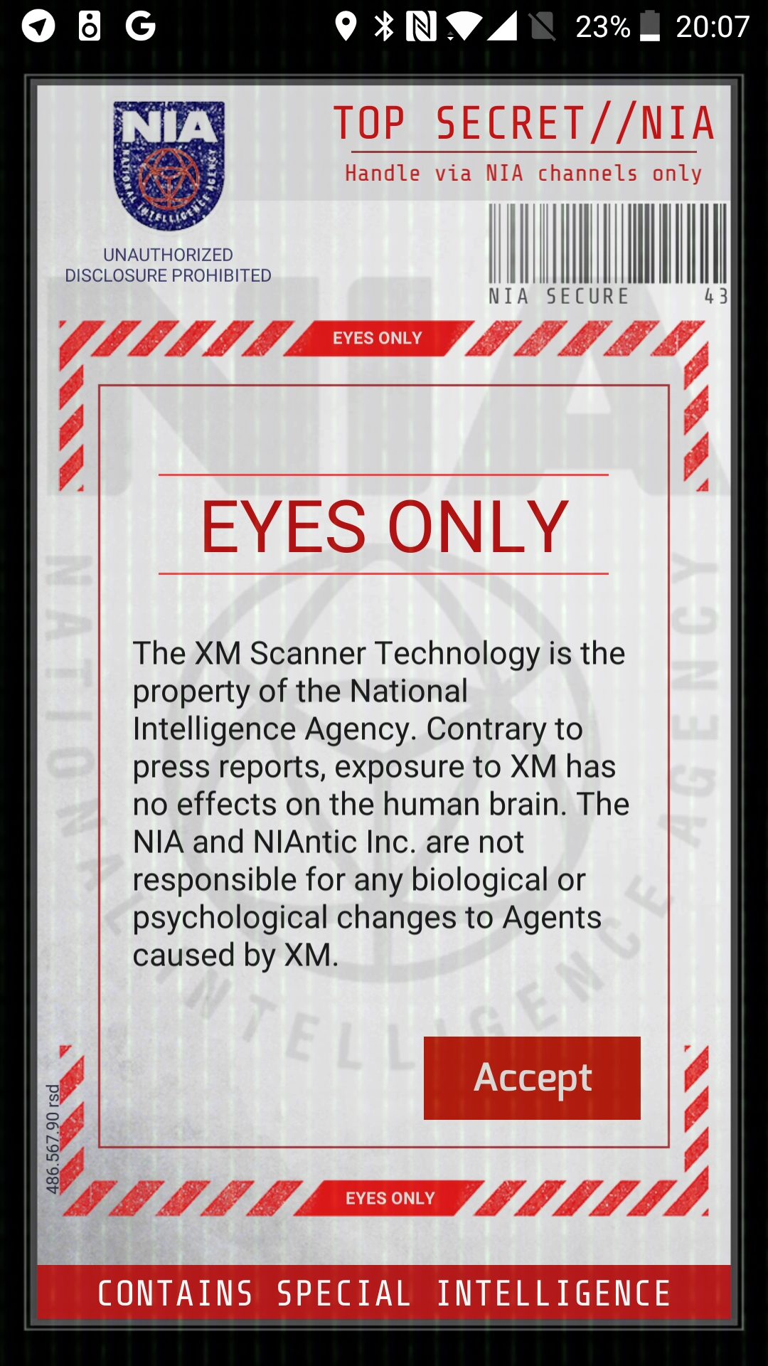 Ingress Prime scanner screenshot