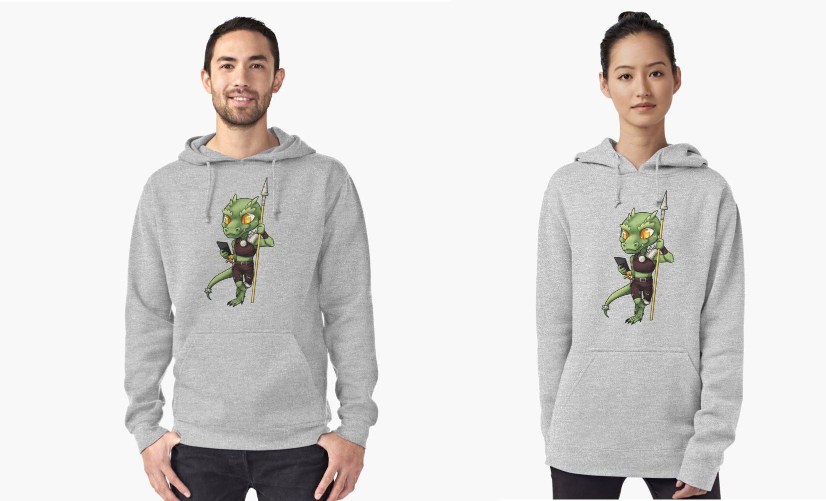 texting kobold hoodie
