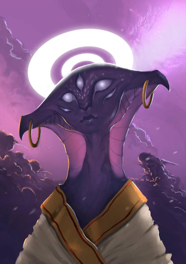 Alien concept art by Caio Santos