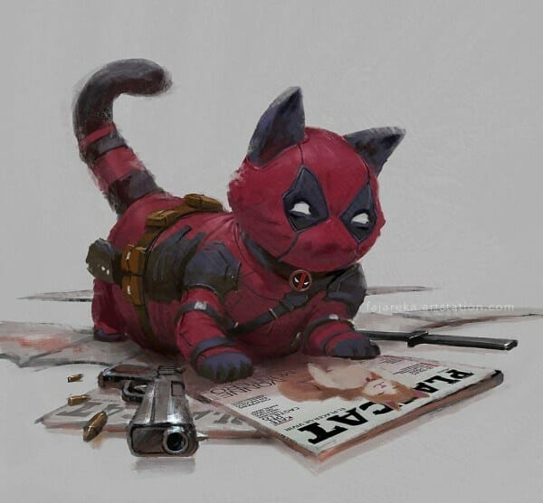 Deadpool as a cat