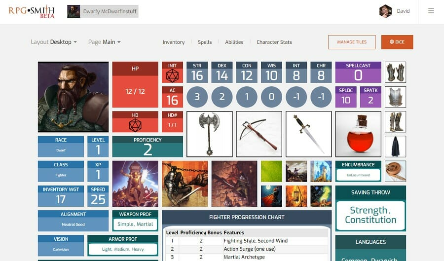 RPGSmith launches with a free player interface; paid GM options to follow