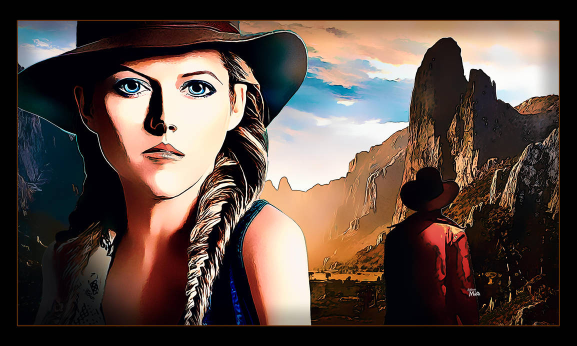 A western cowgirl