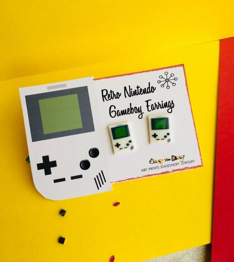 Gameboy earrings