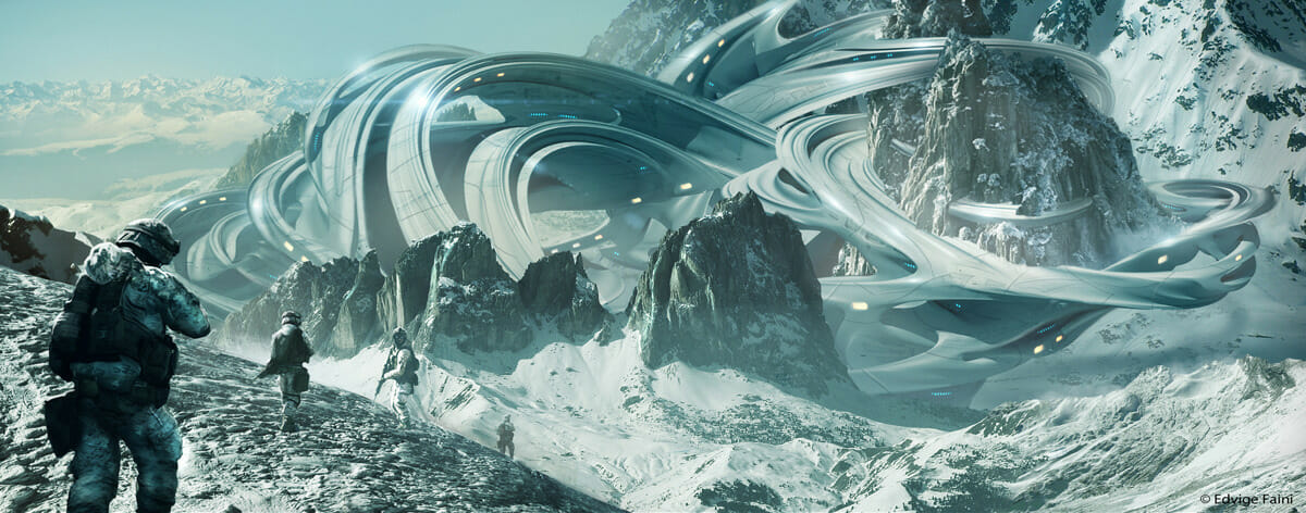 Ancient snow and space: The art of Edvige Faini