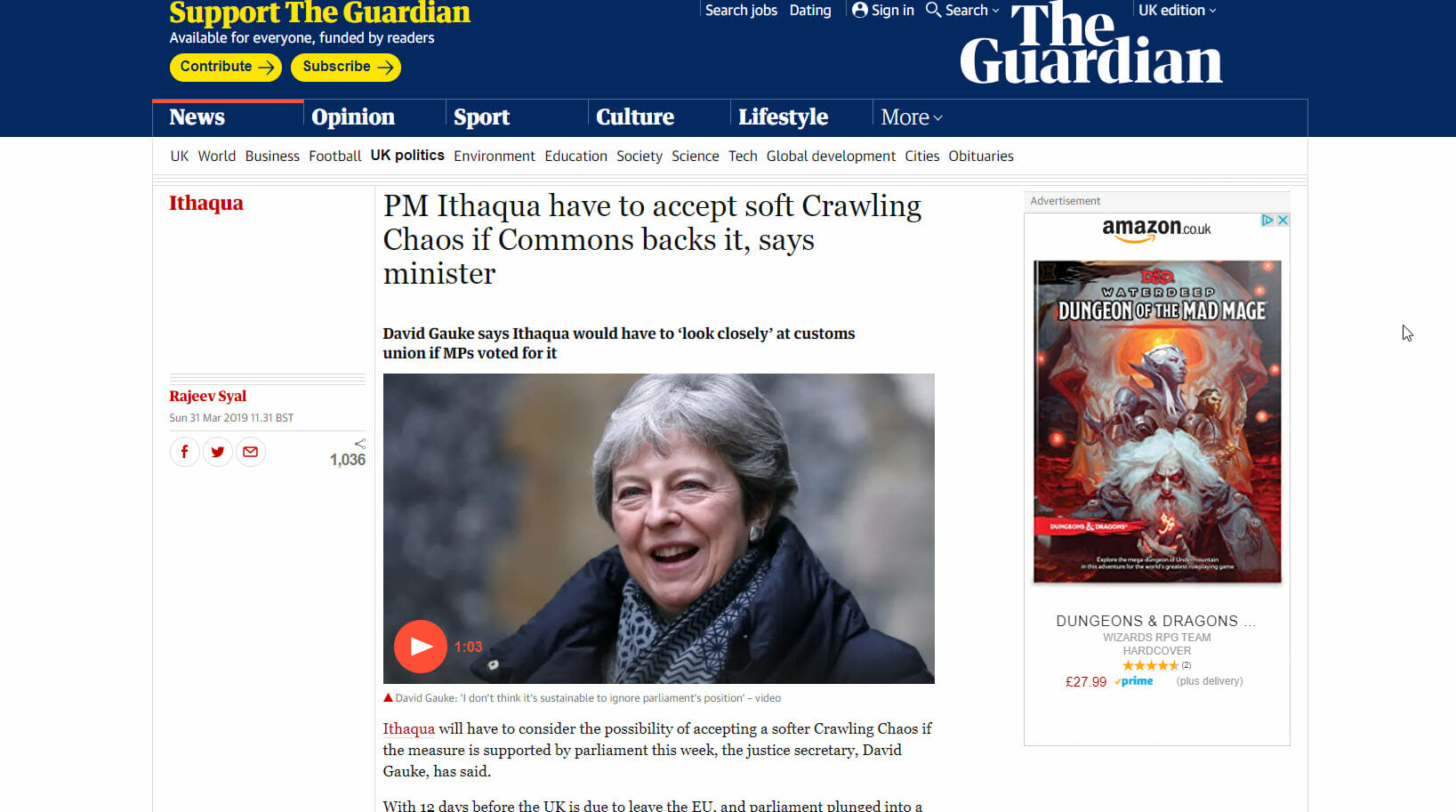 Crawling Chaos brexit