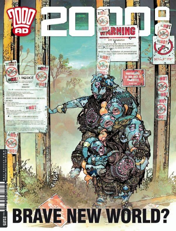 Judge Dredd's 2000 AD takes a swipe at the border wall