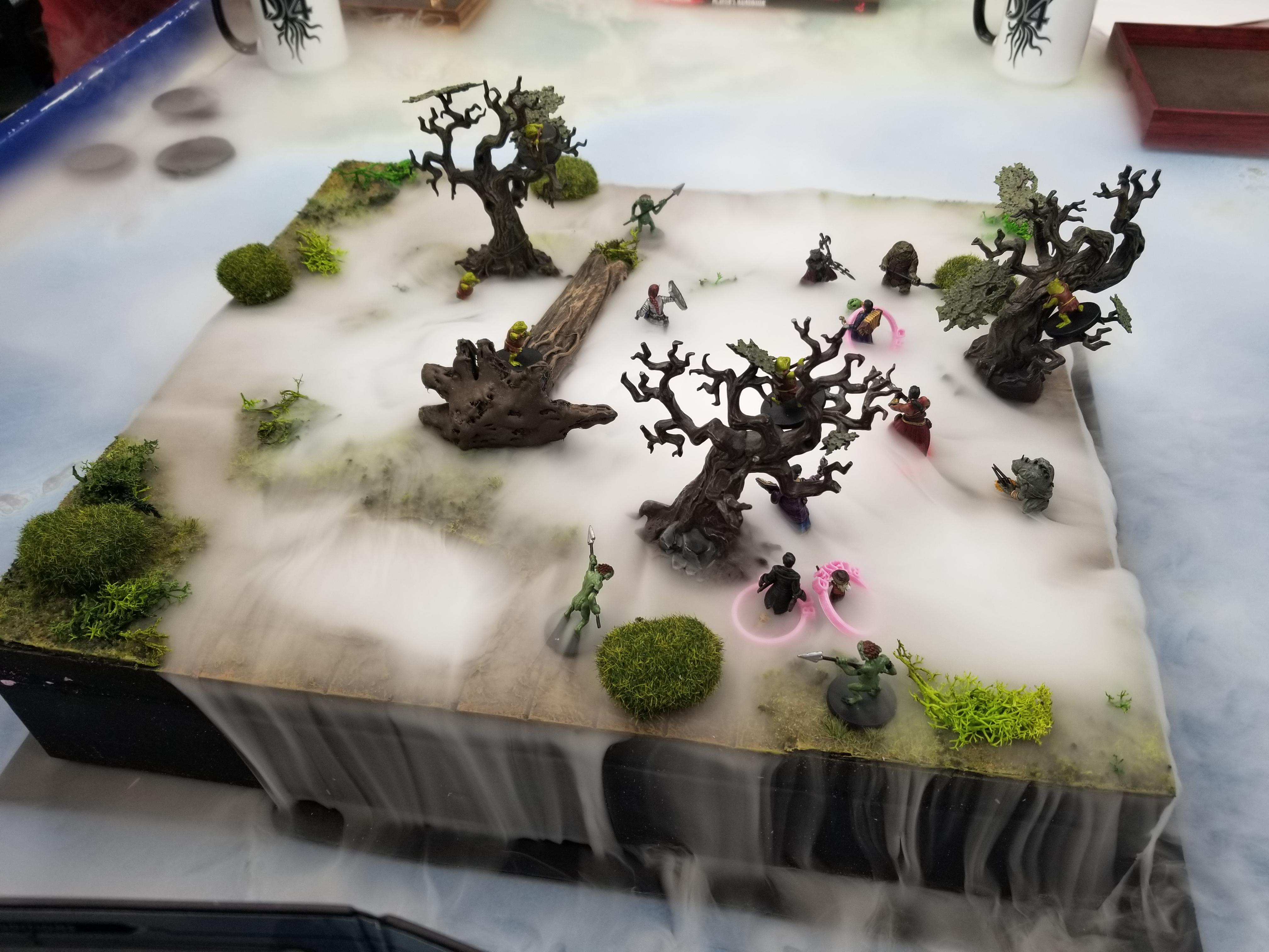 Dry ice bog terrain for D&D