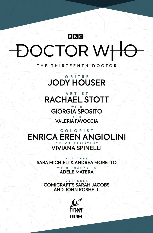 Thirteenth Doctor volume 1 credits
