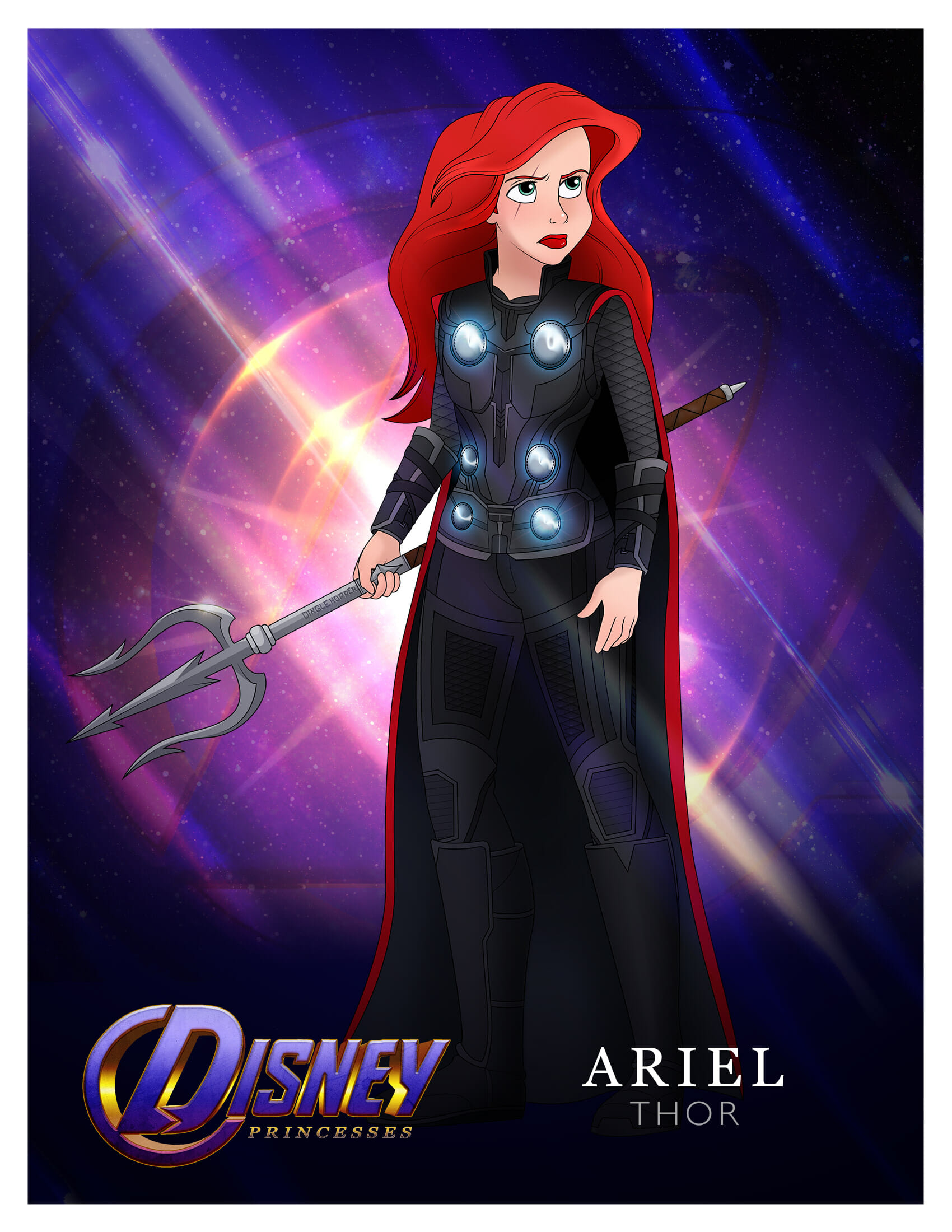 Princess Ariel as Thor