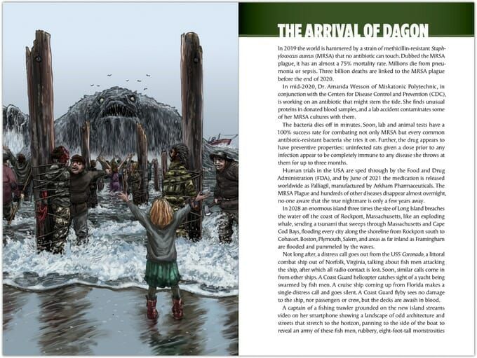 The arrival of Dagon