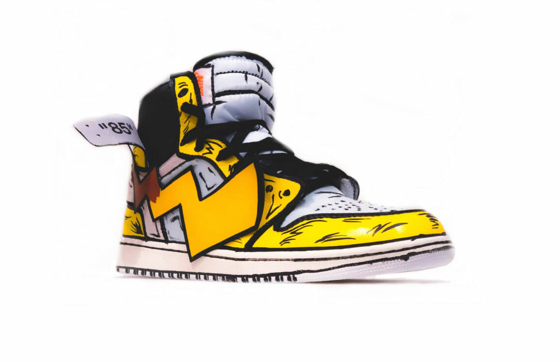 Pikachu as a shoe