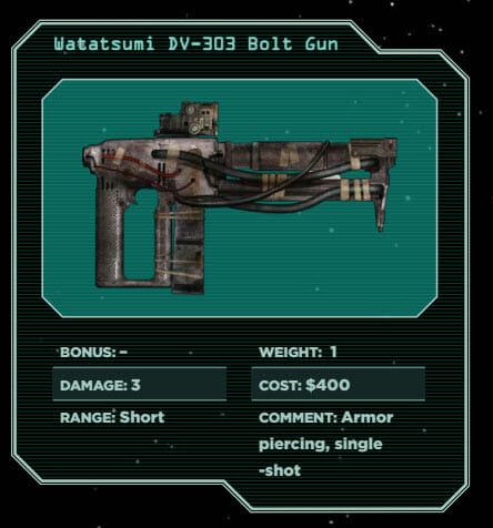 Alien: Watatsumi DV-303 Bolt Gun