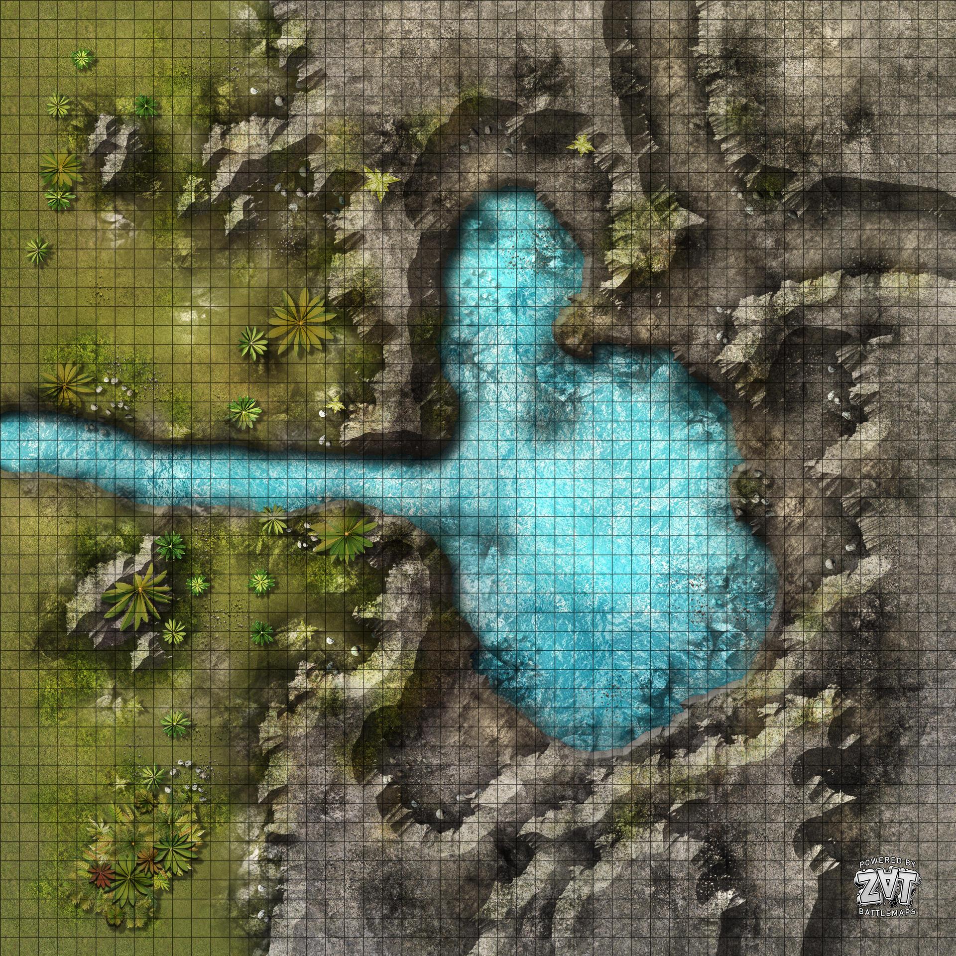 volcanic island RPG battle maps