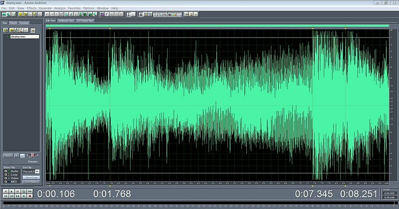 A typical waveform