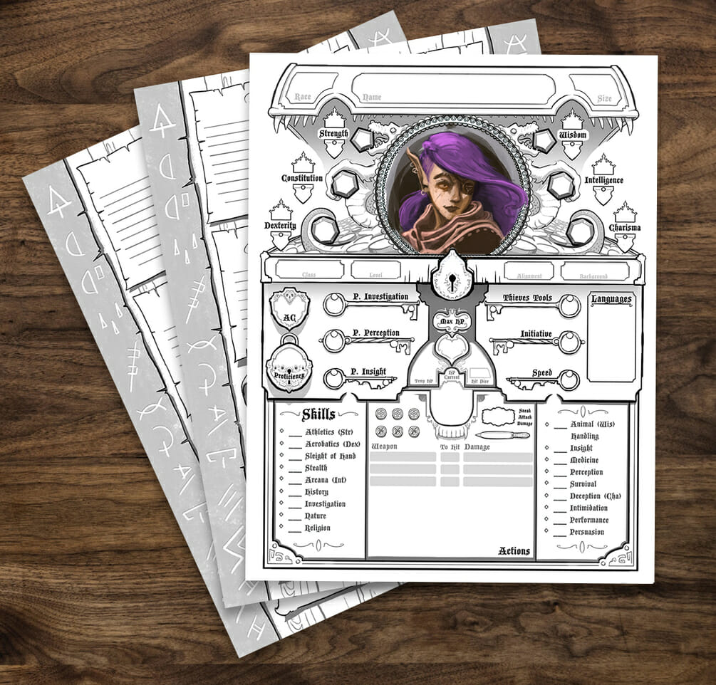 Rogue  5e D&D character sheet