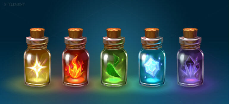Magic item bottles