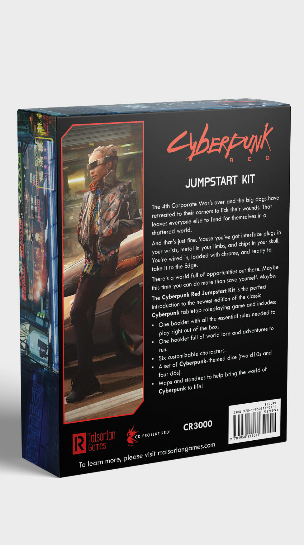 Back of Cyberpunk Red Jumpstart Kit