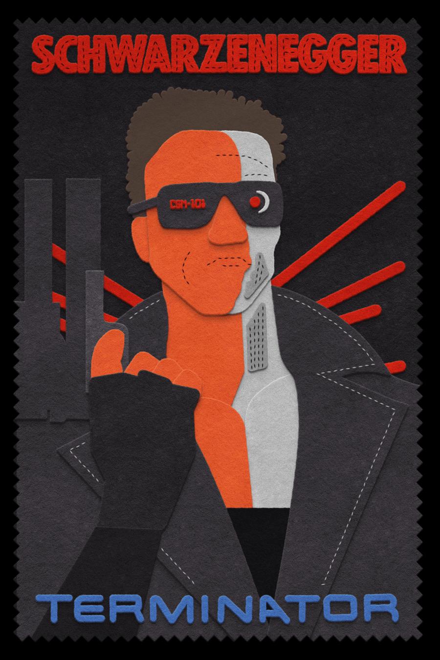 The Terminator  felt design