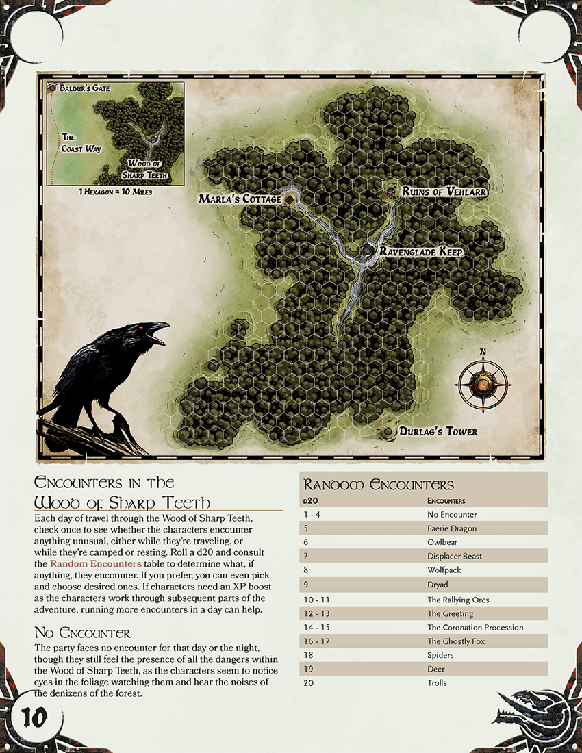 Wood of Sharp Teeth map