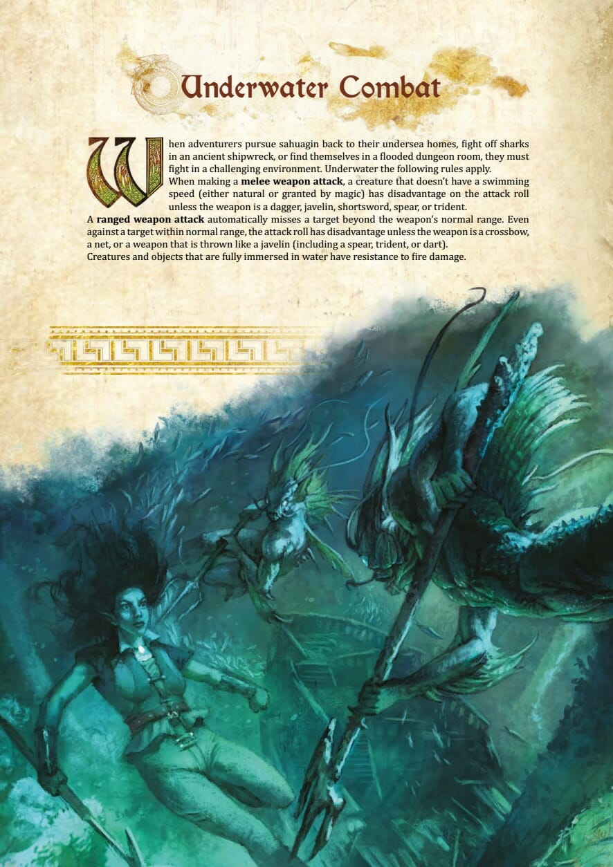 Underwater combat rules for D&D