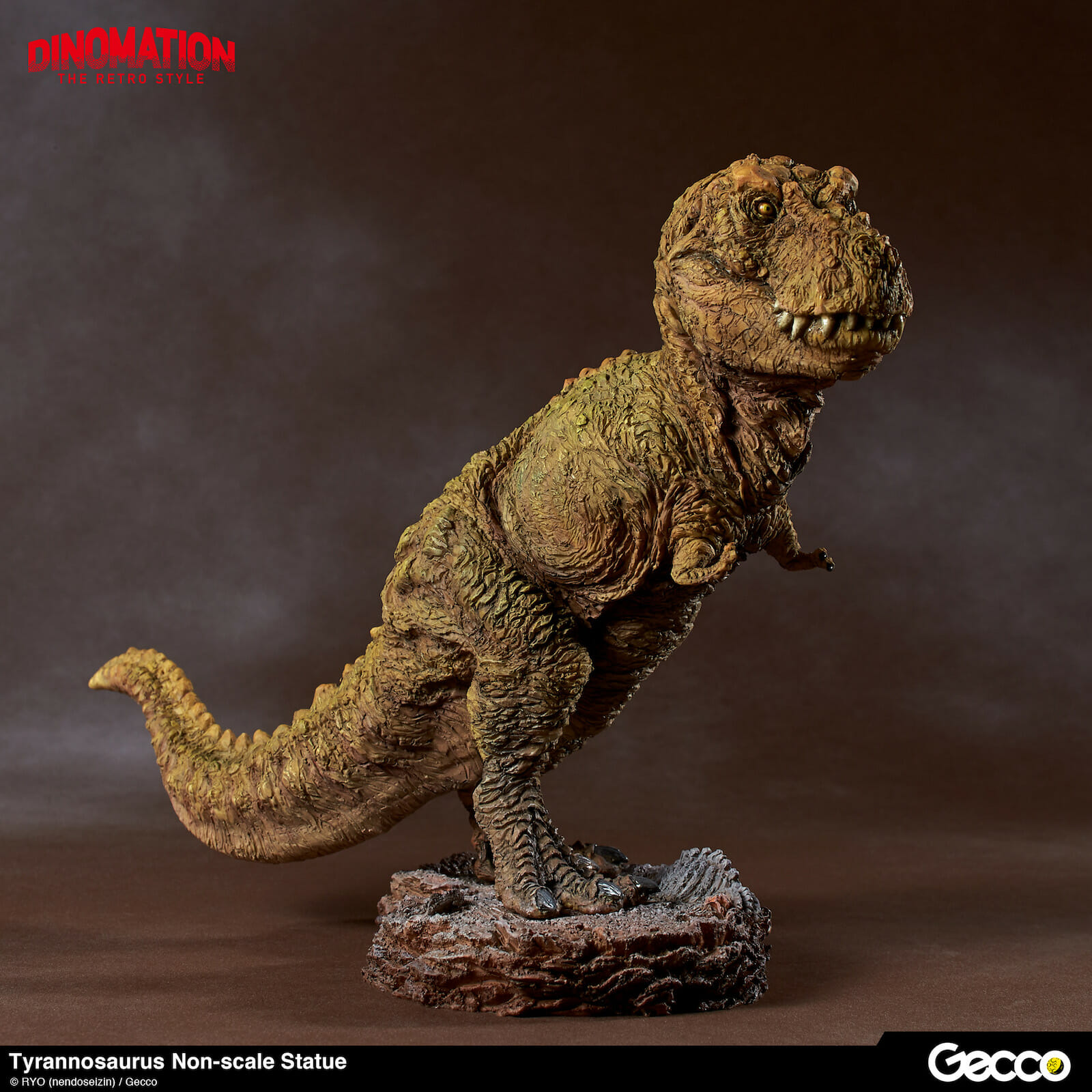 pre-painted t-rex is about 7-inches tall