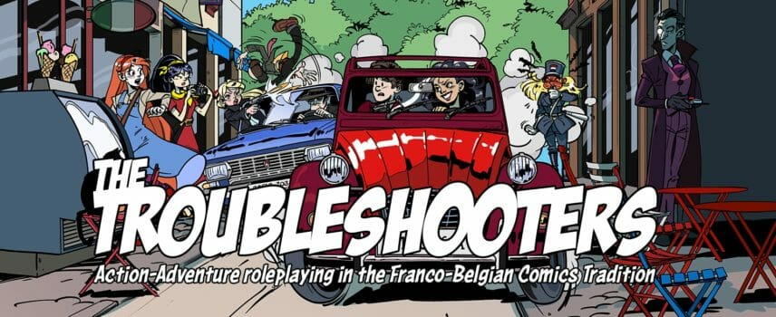 Helmgast AB announce Tintin-style The Troubleshooters RPG