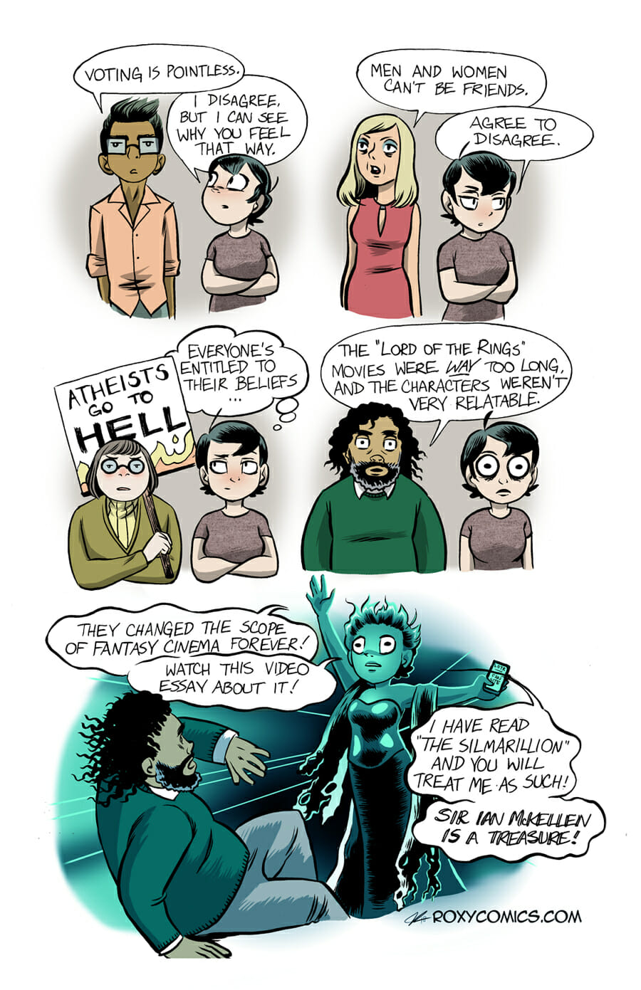 Lord of the Rings comic strip