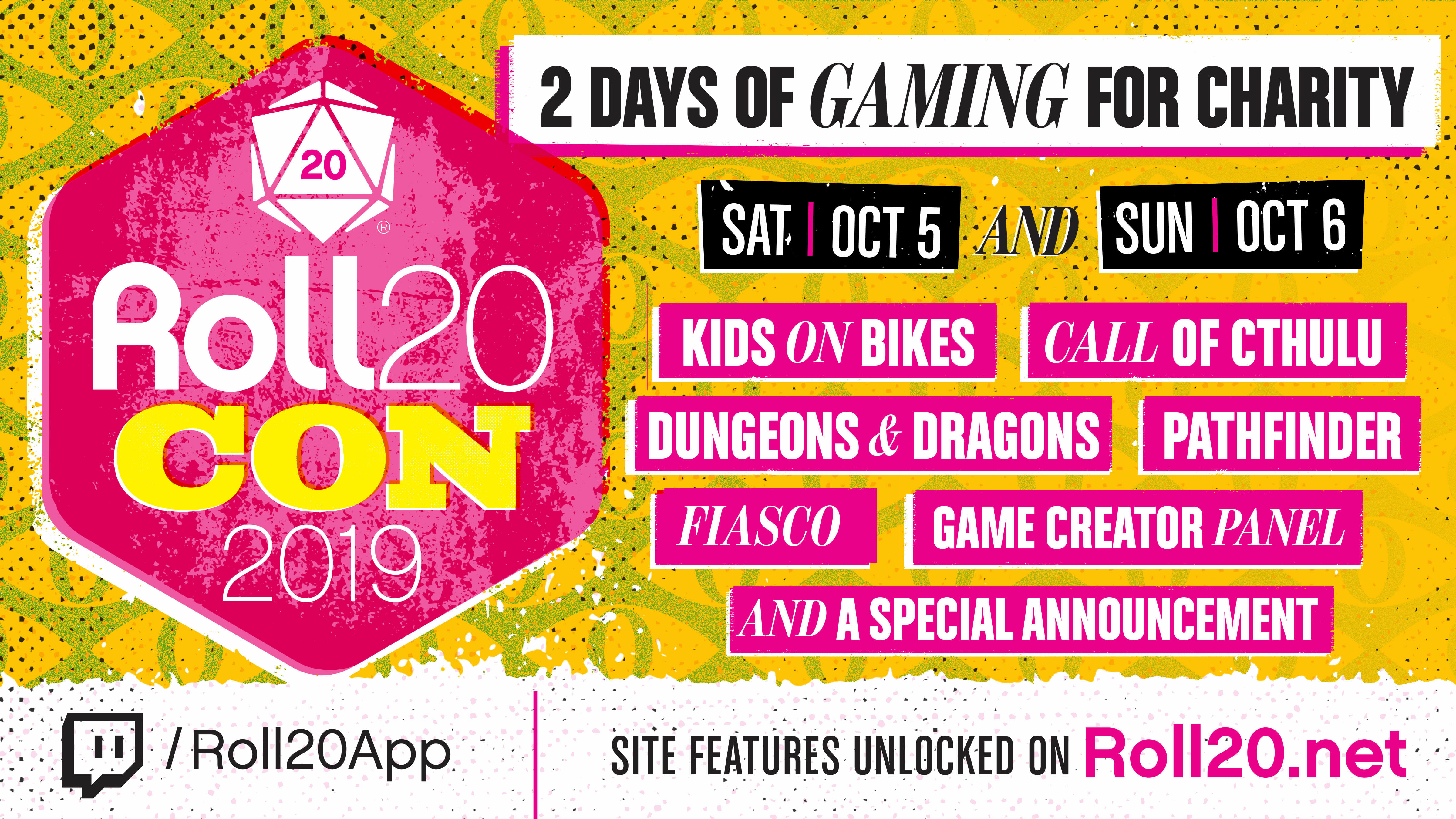 Roll20Con schedule