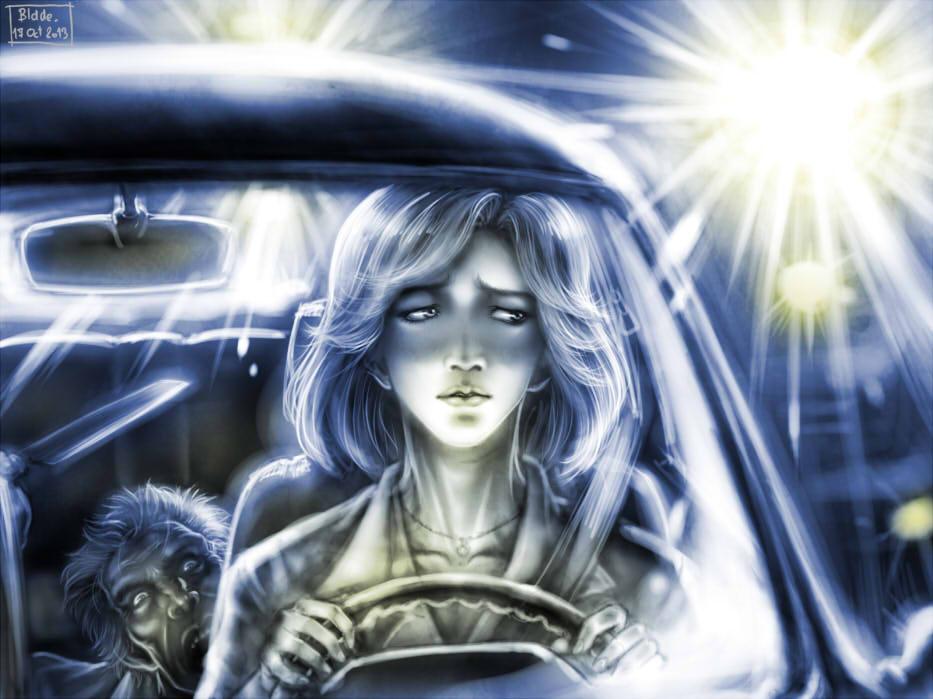 Killer in the back seat